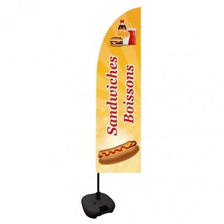 """Drapeau """"Sandwiches et Boissons"""""""