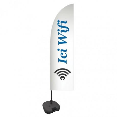 """Drapeau """"Ici Wi-Fi"""""""