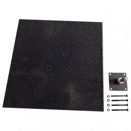 Pied de fixation en caoutchouc (8cm)