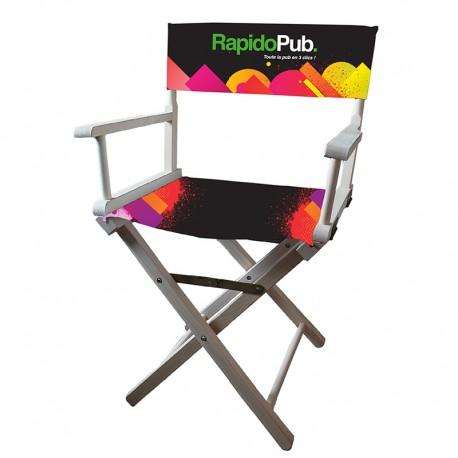 La chaise « Réalisateur » avec dossier imprimé