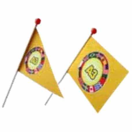 Petit drapeau pour vélo sur tige