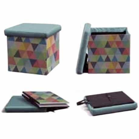 Tabouret pliable en forme de cube