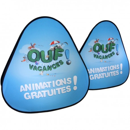 """Stand publicitaire triangulaire """"Golf"""" (Format D)"""