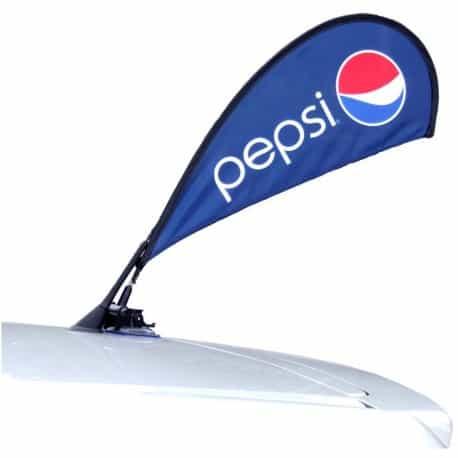 """Petit drapeau avec fixation ventouse au format """"Beach Flag"""""""