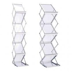 Porte-brochures en acrylique avec structure en métal