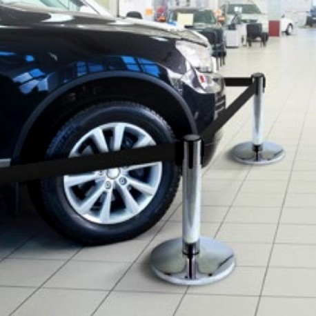 Barrière enrouleuse faible hauteur protection véhicule
