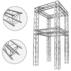 Colonnes en aluminium pour les structures d'exposition