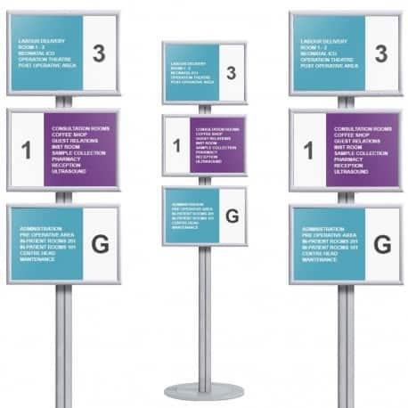 Présentoir d'affiches sur pied (3 x format A3)