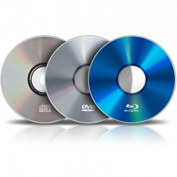 Pressage de CD / DVD / Blu-Ray (500 exemplaires)