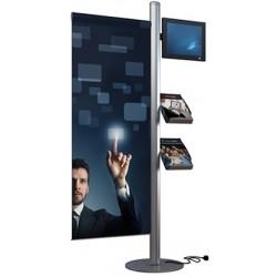 Mât LCD 2 brochures