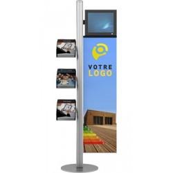 Mât LCD 3 brochures