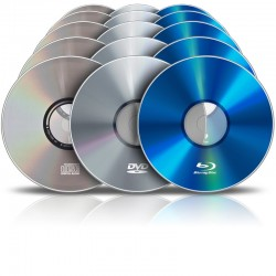 Pressage de CD / DVD / Blu-Ray (10000 exemplaires)