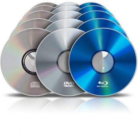 Pressage de CD / DVD / Blu-Ray (10000 exemplaires)