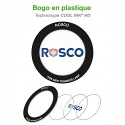 Gobo personnalisé en plastique pour projecteur (Technologie COOL INK® HD)