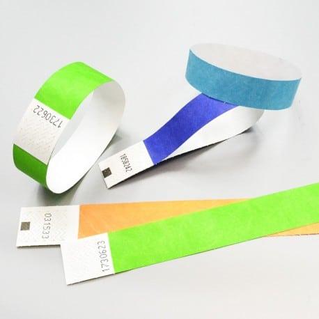 Bracelet Tyvek (1,9cm) pour les contrôles d'accès