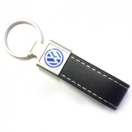 """Porte-clés publicitaire personnalisé """"Plazza"""" en similicuir et avec accroche métal"""