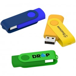 Clé USB publicitaire sur-mesure Twister Color personnalisation couleur coque et marquage logo