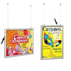 Cadres d'affichage LED suspendus et doubles-faces