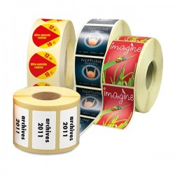 Étiquette imprimées en rouleau