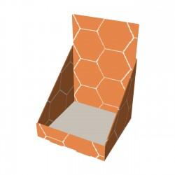 """Impression de porte-produits en carton en forme de """"L"""""""