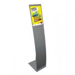 Présentoirs d'affiche A4 en aluminium stable et esthétique