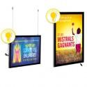 Cadres d'affichage muraux et suspendus à LED et à fermeture magnétique