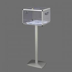 Urne électorale transparente sans compteur sur pied