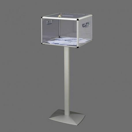 Urnes électorales transparentes sans compteur sur pied