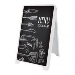 """Chevalet """"ardoise"""" pour menu de restaurant"""