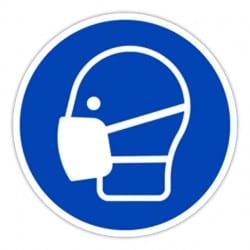 Affiche le pictogramme « Masque obligatoire » (21x21cm)