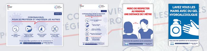Durant cette crise sanitaire du COVID-19, nous vous proposons l'impression des affiches officielles pour l'information de votre personnel et votre clientèle