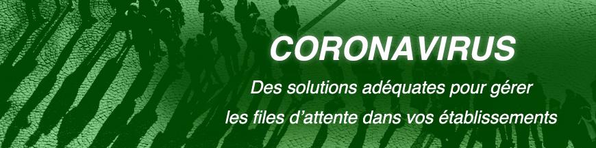 Des systèmes de barrières pour gérer les files d'attente pendant l'épidémie du Covid-19