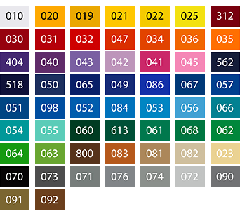 La gamme couleurs ORACAL