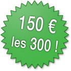 300 euros les 300 pièces !