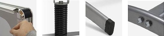 Stop-trottoir cadre aluminium double-face