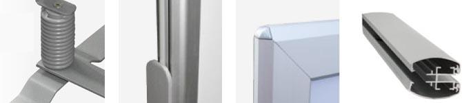 Stop-trottoir cadre aluminium double-face monté sur ressorts