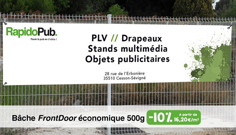 "Bâche ""FrontDoor"" économique 500g"